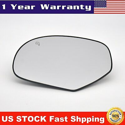 Mirror Glass Power Heated Left Driver Side Left for 2007-2014 Cadillac Chevy GMC