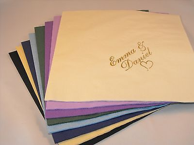 1000 x  Personalised 2 ply cocktail   Napkins