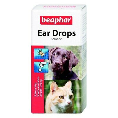 Beaphar Ear Drops for Dogs/Cats, 15 ml