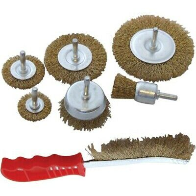 15 Pack Brass Coated Wire Brush Wheel /& Cup Brush Set with 1//4 Inch Q8T6 2X
