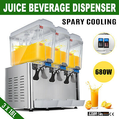 Three 14.25 Gallon Beverage Machine Juice Dispenser Ice Tea Juice Slush