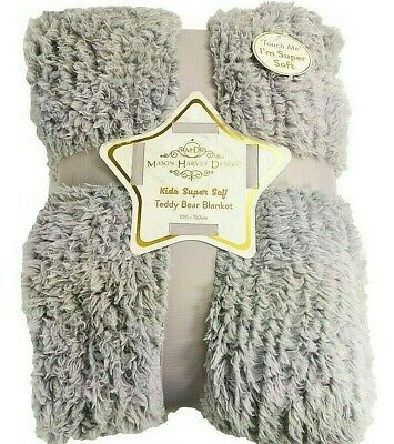 Super Soft Grey Sherpa Baby Blanket Perfect Gift Suitable For Newborn 0+ Comfort