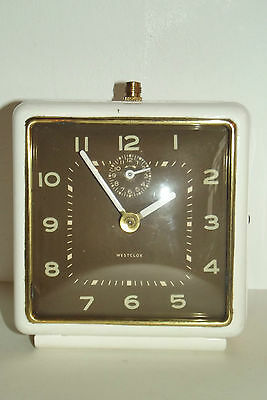 Antique Clock Vintage 1970 Westclox Clock Mechanical Deco Design Loft Clock