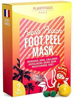 Exfoliating Foot Peeling Mask for Soft Baby Feet - 2 Pairs - Removes Calluses, D