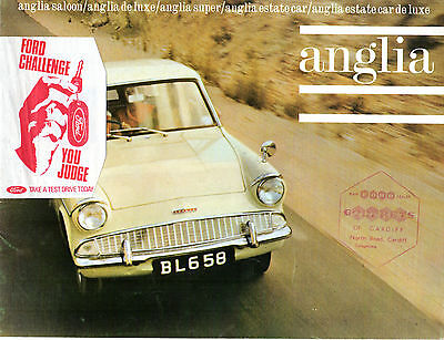 Ford Anglia 105E 1964 UK Market Sales Brochure Standard De Luxe Super Estate