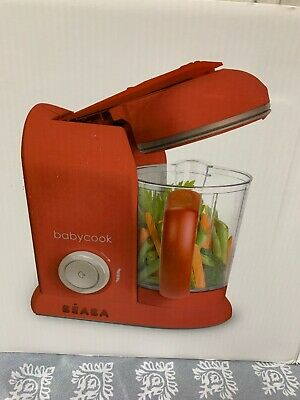 Beaba 912509 Babycook 4.5 Cups Cooker and Blender -red