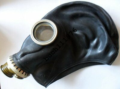 NBC RUSSIAN RUBBER GAS MASK RESPIRATOR GP-5 Black Military sizes  S, M ,L only