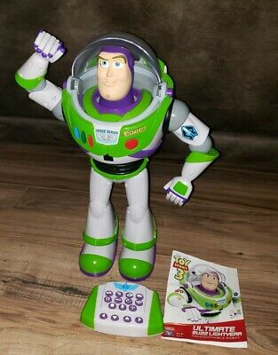Disney Toy Story 3 Ultimate Buzz Lightyear Programmable Robot remote control 16""