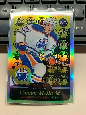 2015-16 OPC Platinum RETRO RAINBOW Rookie RC card R97 CONNOR McDAVID