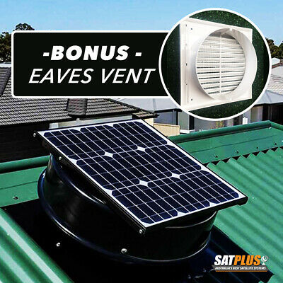 SolarKing Solar Roof Ventilation Extraction Fan with BONUS Eaves Vent
