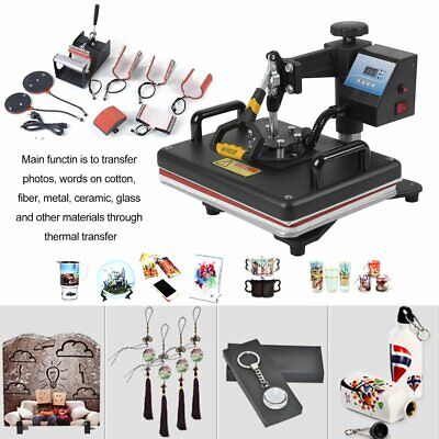 8 in 1 Transfer Sublimation T-Shirt Mug Hat Plate Cap Heat Press Machine 0x
