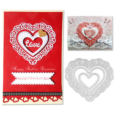 Lace Heart Metal Cutting Dies Stencil Cut Dies Embossing Card Paper Lace Crafts