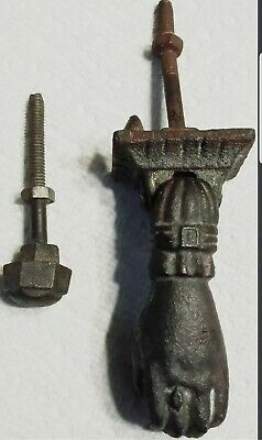 Antique Cast Iron door Knocker Lady's Hand Lace Cuff Victorian 19th Century