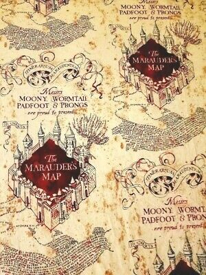 Harry Potter Marauders Map Crib Or Toddler Bed Fitted Cotton Sheet, New Handmade
