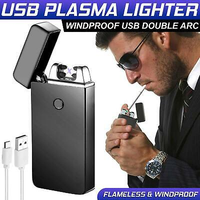 Dual Arc Plasma Lighter Electric Rechargeable Flameless Windproof USB Lighters