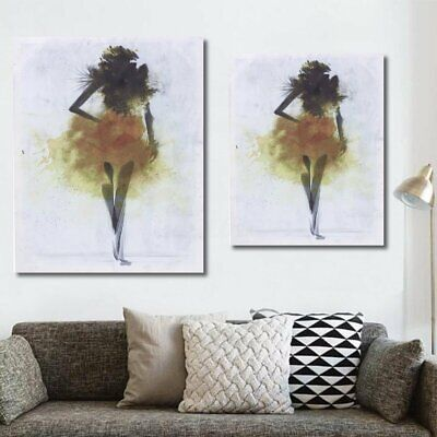 Fashion Girl Minimalist Abstract Art Canvas Print Oil Paintings Decor Framed TO