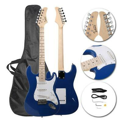 New 22 Frets Blue Right-Handed Basswood Electric Guitar Set for Beginner