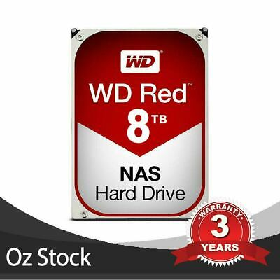 "WD 8TB Red 3.5"" NAS Hard Drive Interface SATA 6Gbps 5400RPM Cache 256MB 3 Years"