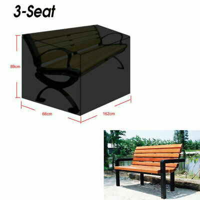 Woodside Black 3 Seater 1.5m 5ft Waterproof Garden Bench Furniture Seat Cover