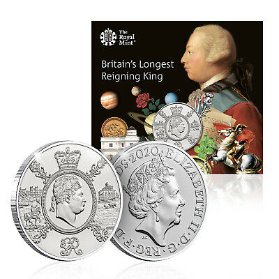 Royal Mint King George III £5 BU Official Five Pound Coin Collector pack
