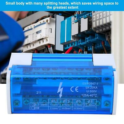 Terminal Block Junction Box Din Rail 2-Level with Transparent Dust Cover 211