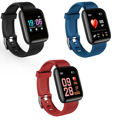 Rate Blood Pressure Monitor Fitness Tracker ID116Plus Smart Watch Bracelet Heart