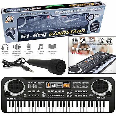 Digital 61 Keys Electronic Keyboard Piano Electric Microphone& Organ Music Set