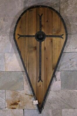 D16 Europe Retro Medieval Shield Antique Knight Armour Wall Home Decor Full Size