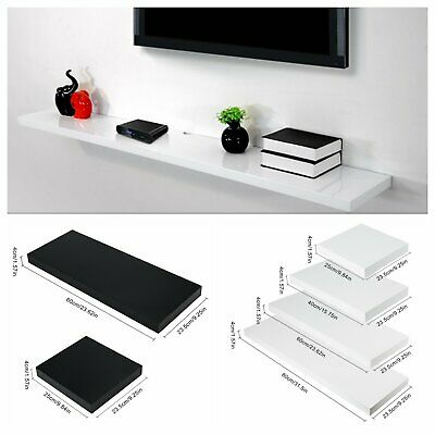 80cm High Gloss Floating Shelves Wall Shelf Storage Display Unit bookcases Rack