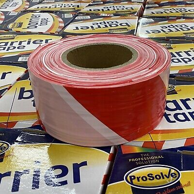 Hazard Warning Tape Roll Strong barrier tape 70m x 500m Red/White