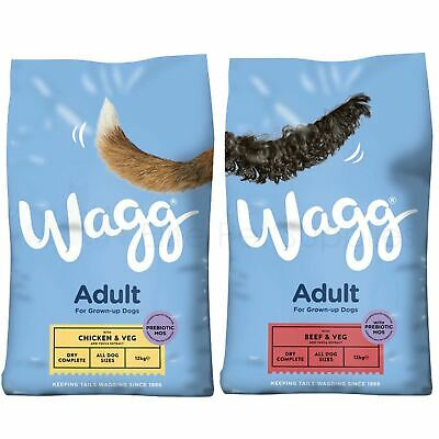 Wagg Complete Adult Dry Dog Food Beef and Veg or Chicken and Veg 12kg