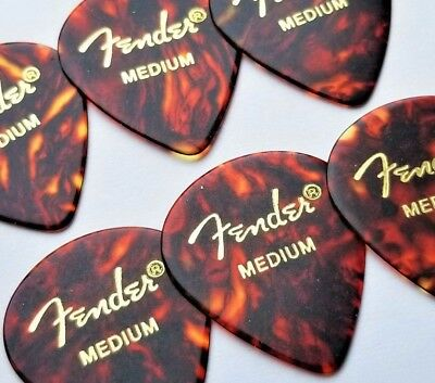 Fender 551 Classic Celluloid Guitar Picks - SHELL -medium - 6-Pack