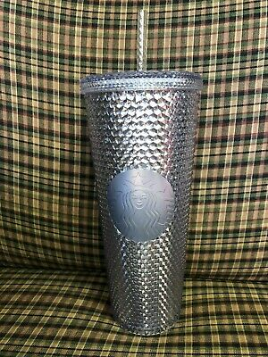 Starbucks 2019 ~Christmas Holiday~ Silver Studded Venti Tumbler Cold Cup New