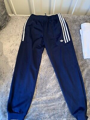 Adidas Originals Track Suit Bottoms Navy And White Stripe Ages 11-12 Years