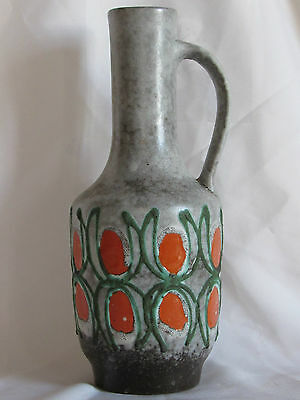 Antique Vase 70 'S Design 1970 Strehla Keramik 982 Pottery GDR Germany Fat Lava
