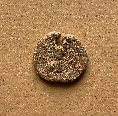 Byzantine lead seal/bleisiegel iconographic with Mother of God/a Saint (11th c.)