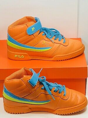 FILA VINTAGE RETRO Orange Mid Sneakers Mens 8.5 Color block