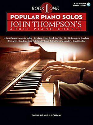 Popular Piano Solos John Thompsons Adult Piano Course - Book 1 Includes Onlin