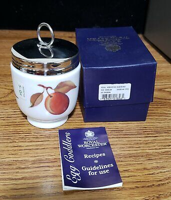 Royal Worcester Porcelain Egg Coddler  Made In England Brand New In Box