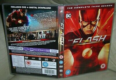THE FLASH COMPLETE SERIES 3 DVD 6 Discs DC Comics Grant Gustin Candice Patton!!