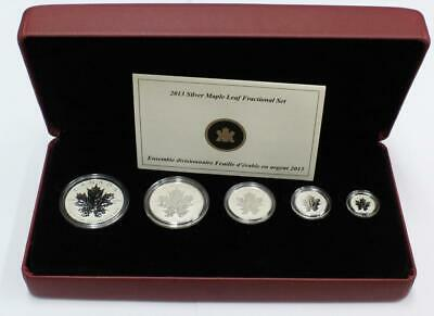 2013 Canada 9999 Pure Silver Fractional set 25th Anniversary Maple Leaf Coins