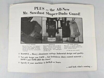 The Art of Shaping With a Radial Saw Poster / Advertisement by Mr. Sawdust