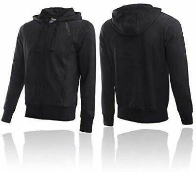 BOXEUR DES RUES Mens Hooded Sweatshirt, Black, Large