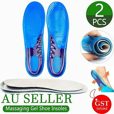 Gel Orthotic Insoles Sports Running Inner Soles Cushion Heel Arch Support Gym AU