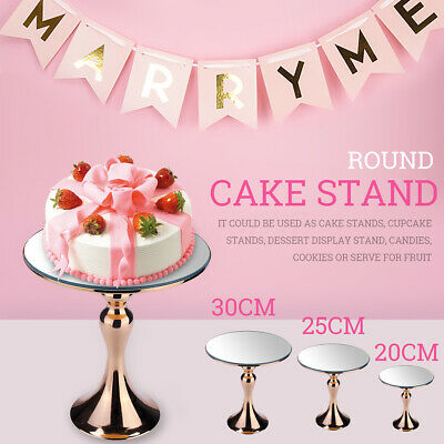 Round Cake Stand Gold Simple Style Fruit Dessert Rack Decor Serving Tray 3 Sizes
