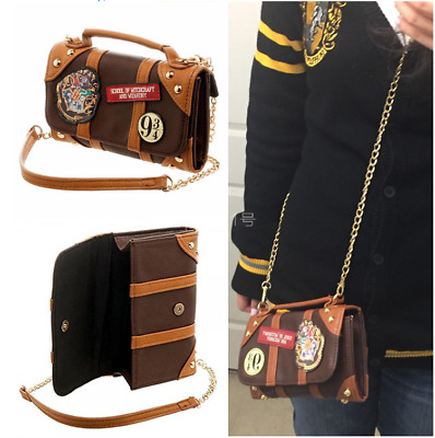 Harry Potter Hogwarts School PU Handbag Bag Purse Women Shoulder Bag Wallet Gift