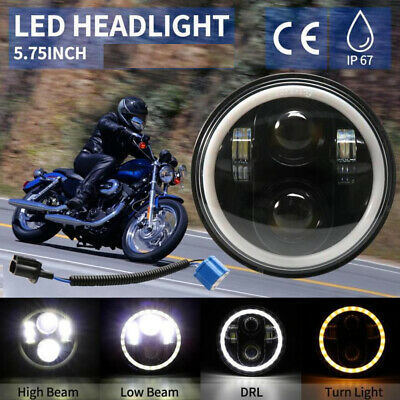 """Brightest 5-3/4"""" 5.75 Inch LED Projector Headlight DRL for Sportster XL1200 Dyna"""