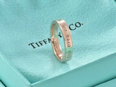 Tiffany & Co 1837 Rubedo Gold Metal Band Ring Size 5.5 w/ Pouch Lovely LIMITED