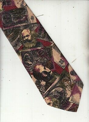 Images-Russian Communist Leaders Theme-[Riders Men]-Silk-Made Italy-44-Men's Tie