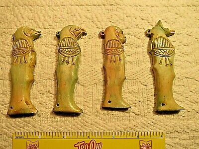 Rare Antique Ancient Egyptian 4 sons Horus Amulets protection 1730-1650BC